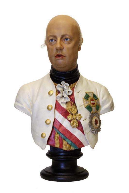 Wachsbüste Leopold II., römisch-deutscher Kaiser (1747-1792)