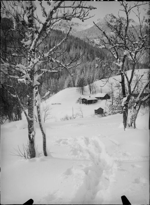 Verschneite Landschaft am Tschengla
