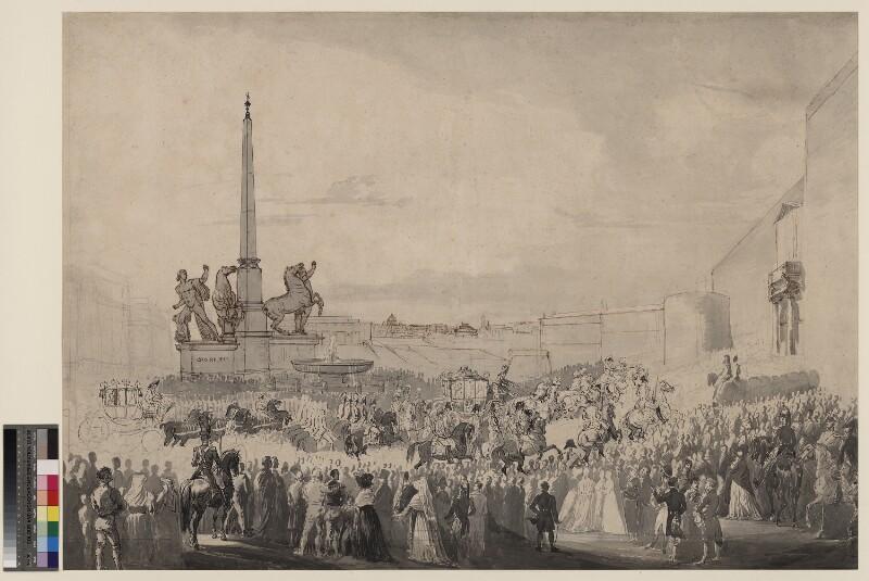 Einzug des Kaisers Franz I. und seiner Gattin Karoline Auguste in Rom am 2. April 1819