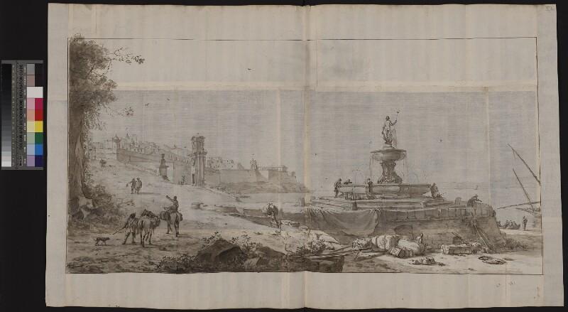 Nahansicht der Fontana Nuova in Valletta