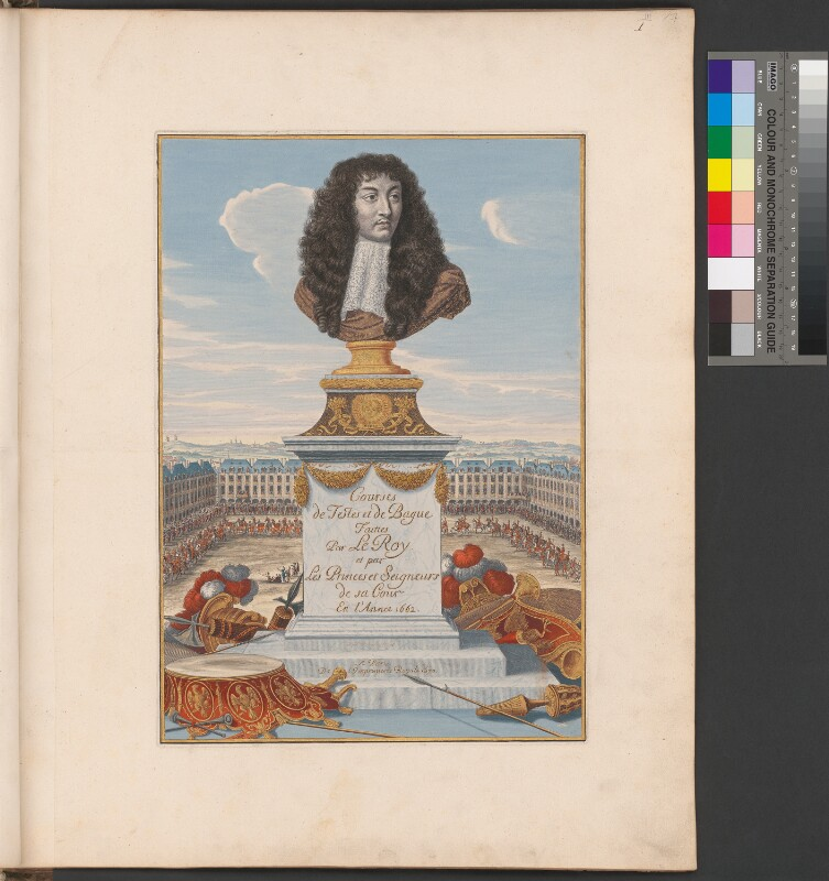 Titelseite zu: Courses de testes et de bague (1670)