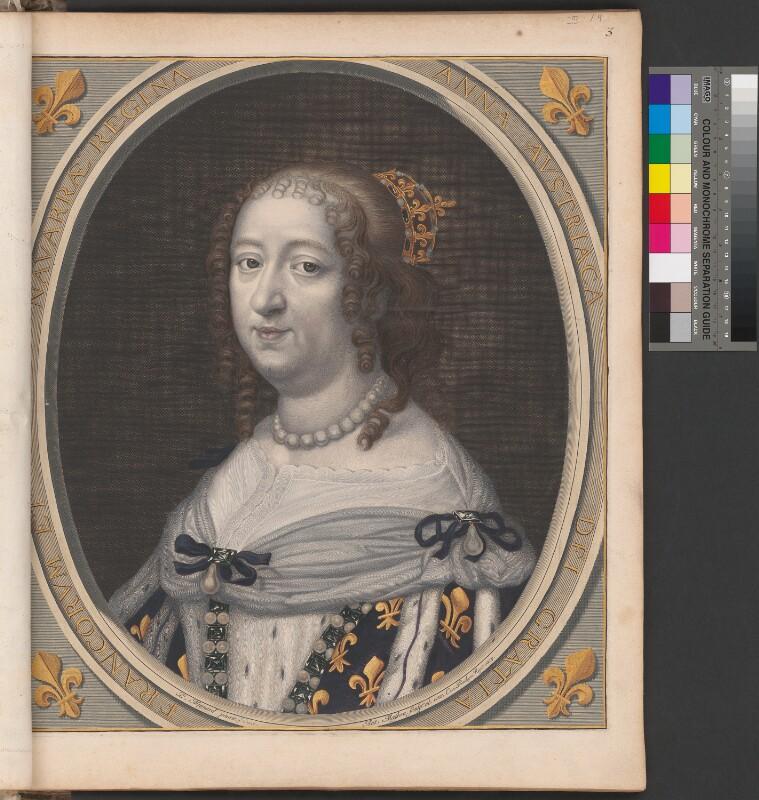 Porträt von Anna von Österreich, Königin von Frankreich