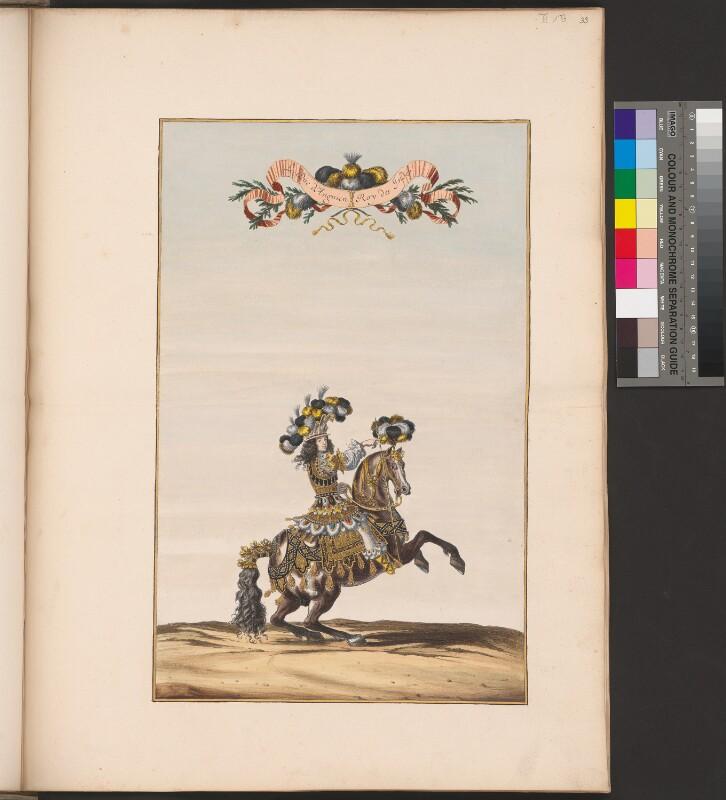 Indische Mannschaft: der Herzog von Enghien als indischer König