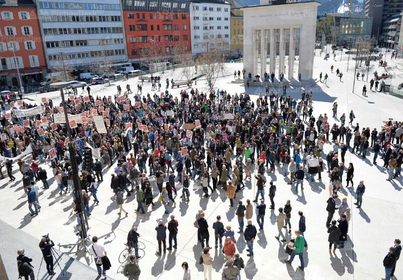 Demonstration der Österreichischen Hoteliervereinigung (ÖHV) in Innsbruck