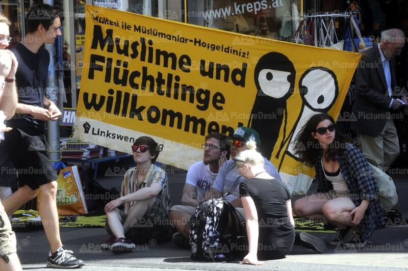 """Demo Identitäre in Wien: Gegendemo """"Offensive gegen rechts"""""""