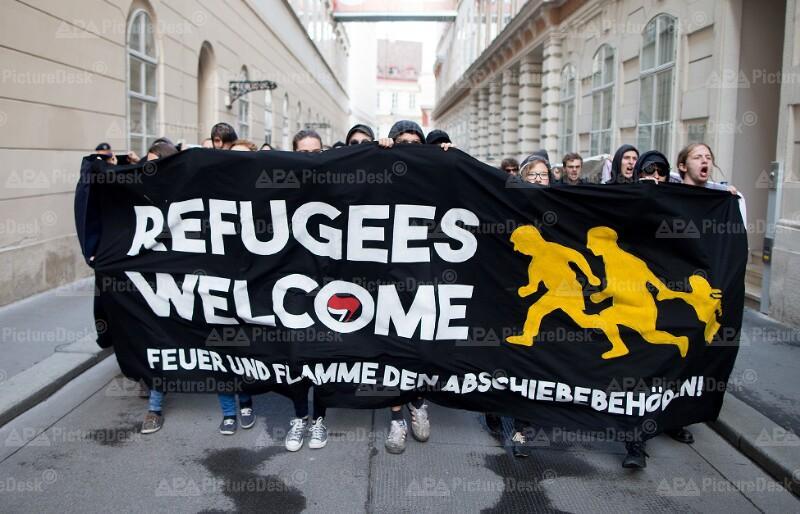 Demonstration von Asyl in Not
