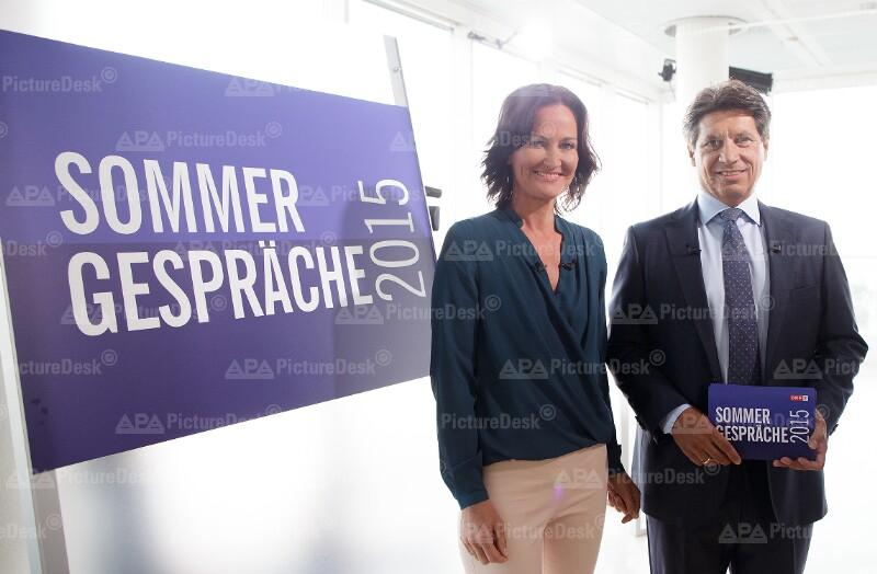 Eva Glawischnig und Hans Bürger