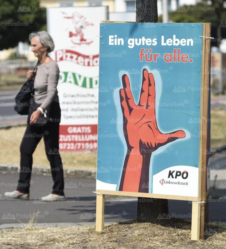 Ein Wahlplakat der KPÖ