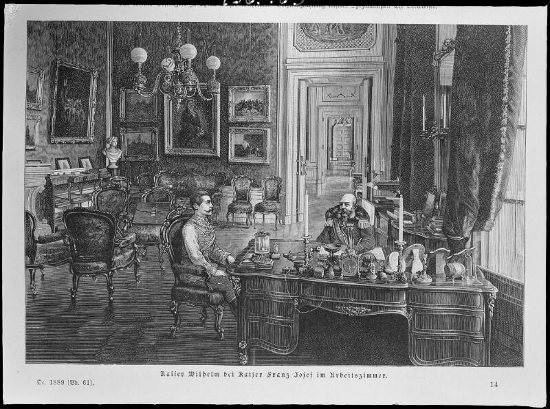 Kaiser Wilhelm II. zu Besuch bei Kaiser Franz Joseph