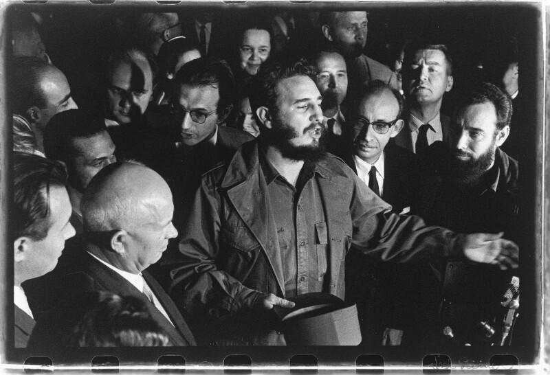 Treffen Nikita Chruschtschow und Fidel Castro in New York