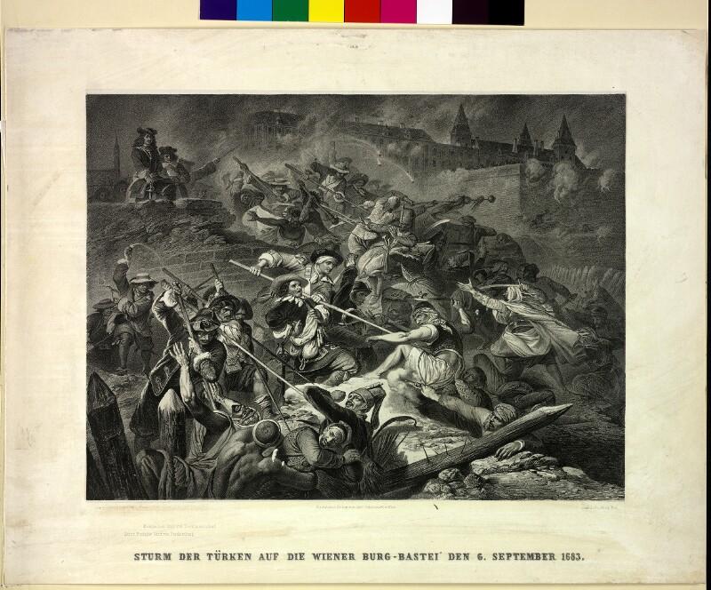 Sturm der Türken auf die Wiener Burg-Bastei den 6. September 1683