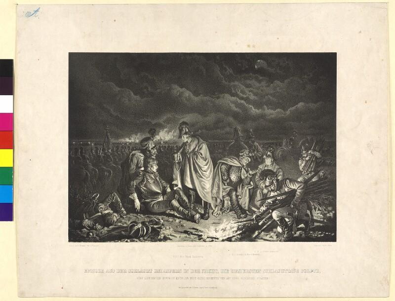 Episode aus der Schlacht bei Aspern in der Nacht, die dem ersten Schlachttage folgte