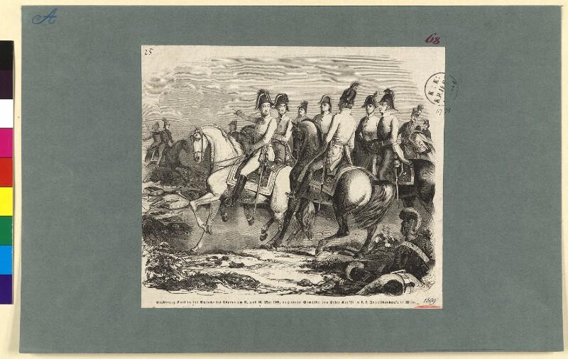 Erzherzog Karl in der Schlacht bei Aspern am 21. und 22. Mai 1809