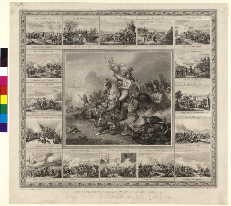 Erzherzog Carl von Oesterreich in der Schlacht bei Aspern den 22ten Mai 1809