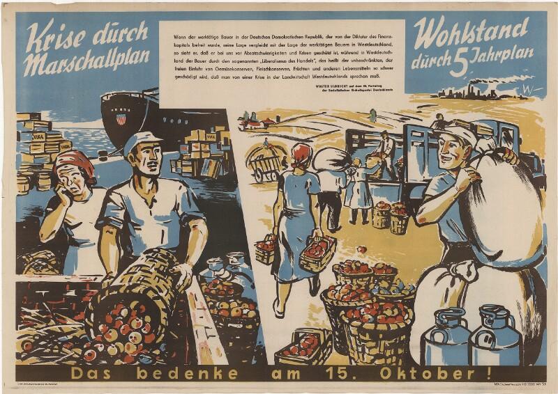 Krise durch Marshallplan - Wohlstand durch Fünfjahresplan - Das bedenke am 15. Oktober
