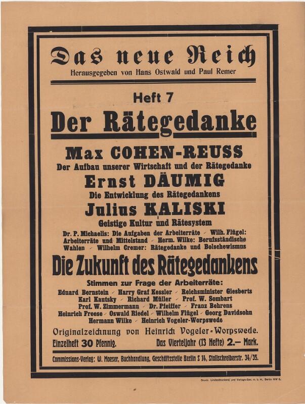 Das neue Reich - Heft 7 - Der Rätegedanke