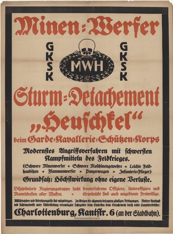 """Minenwerfer - Sturm-Detachement """"Heuschkel"""""""
