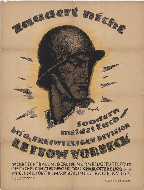 Zaudert nicht - Sondern meldet Euch bei der Freiwilligendivision Lettow Vorbeck