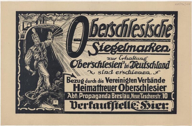 Oberschlesische Siegelmarken zur Erhaltung Oberschlesiens bei Deutschland