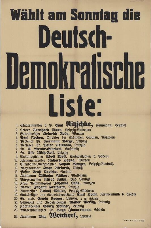Wählt am Sonntag die Deutsch-Demokratische Liste