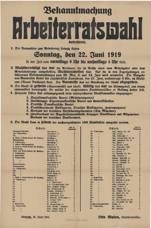 Arbeiterratswahl Leipzig
