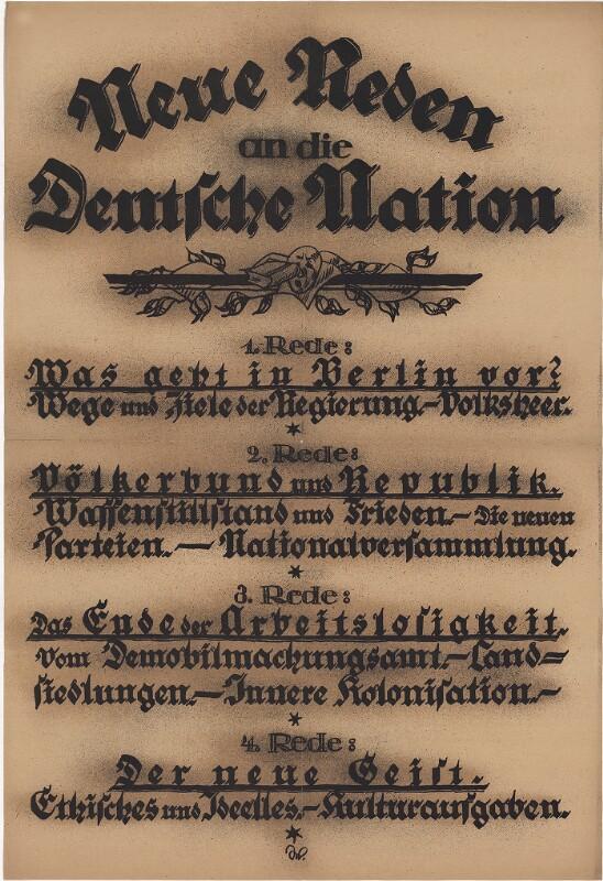 Neue Reden an die Deutsche Nation