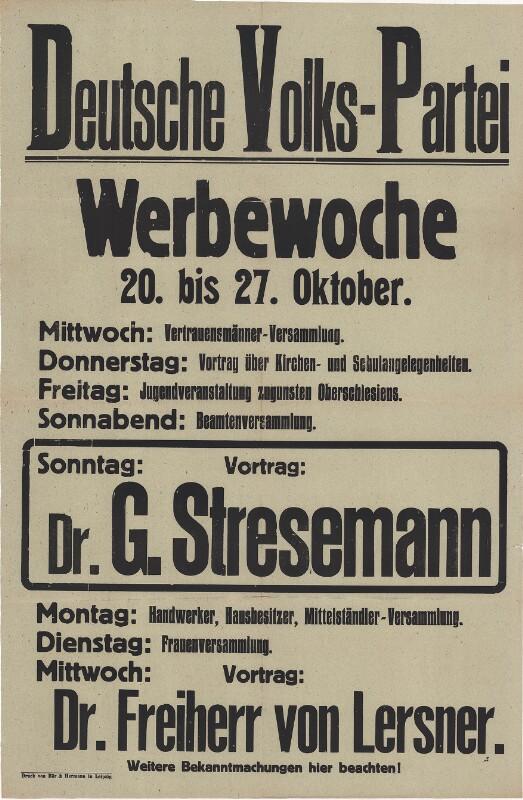 Deutsche Volkspartei - Werbewoche