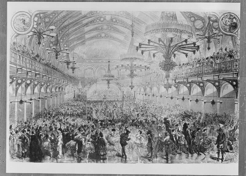Dianasaal in Wien während eines Bal masqué