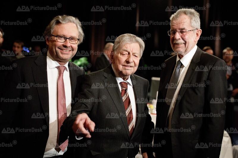 Alexander Wrabetz, Hugo Portisch und Alexander Van der Bellen