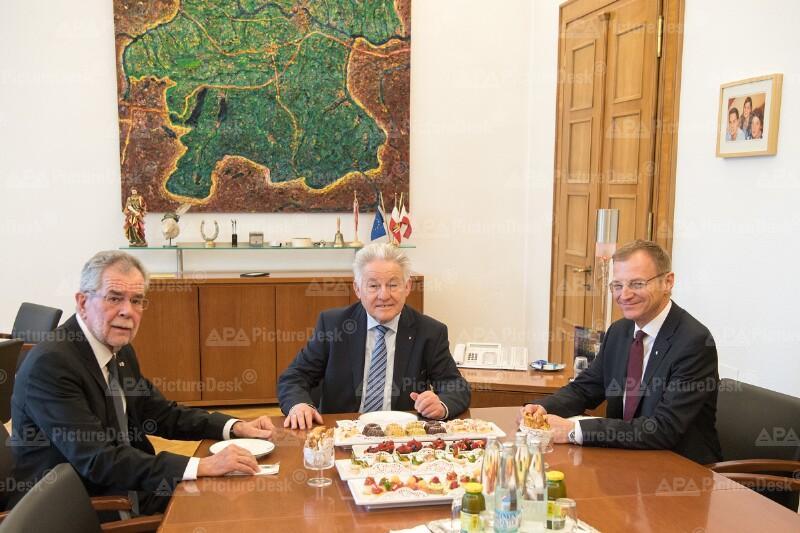 Alexander Van der Bellen, Thomas Stelzer und Josef Pühringer