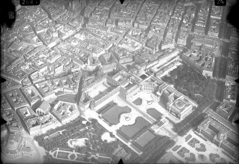Luftaufnahme Hofburg und Umgebung in Wien
