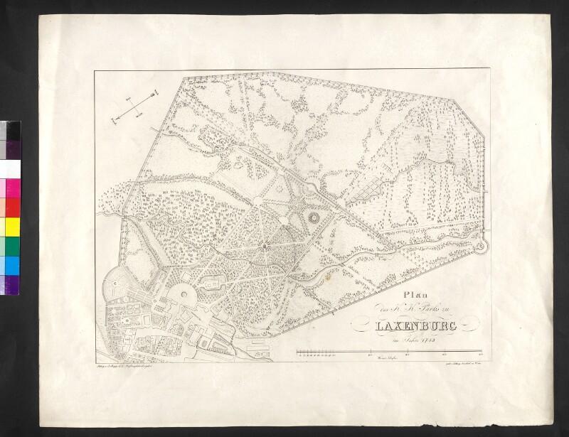 Plan des K. K. Parks zu Laxenburg im Jahre 1783.