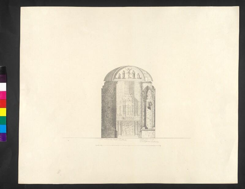 Ansicht gegen den Altar in derselben [=Kapelle]
