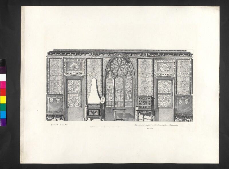 Neue Fensterwand im Prunksaale