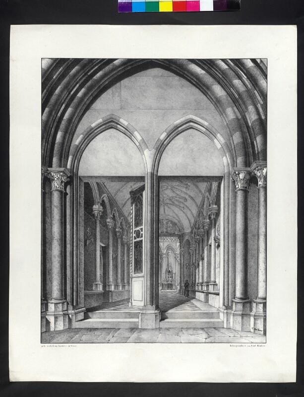 Perspektivische Ansicht der Kapelle