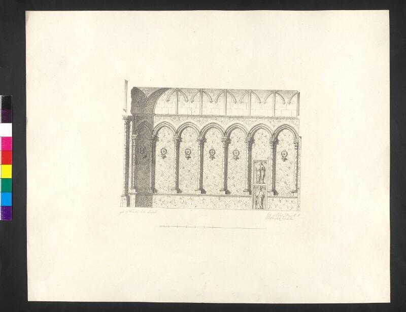 Seitenwand der Vorkapelle