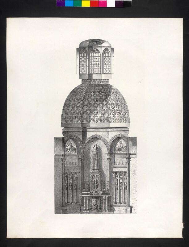 Geometrische Ansicht der Kapelle