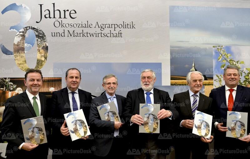 """VERANSTALTUNG """"30 JAHRE ÖKOSOZIALE AGRARPOLITIK UND MARKTWIRTSCHAFT"""": BERLAKOVICH / PRÖLL / MOLTERER / FISCHLER / RIEGLER / RUPPRECHTER"""