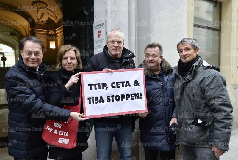 VOLKSBEGEHREN GEGEN TTIP, CETA UND TISA: DREXLER / GEWESSLER / EGIT / STEKOVICS / HUTTER