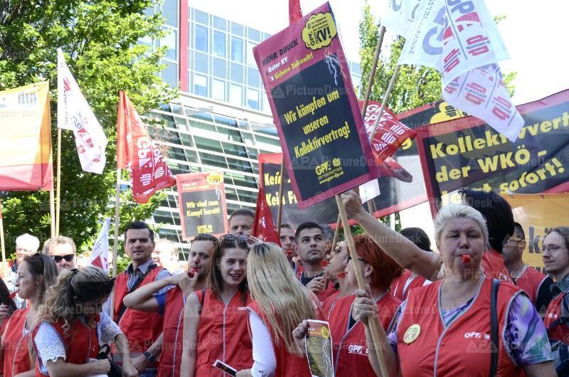 WIEN: DEMONSTRATION DER BESCHÄFTIGTEN DES GRAFISCHEN DRUCKS