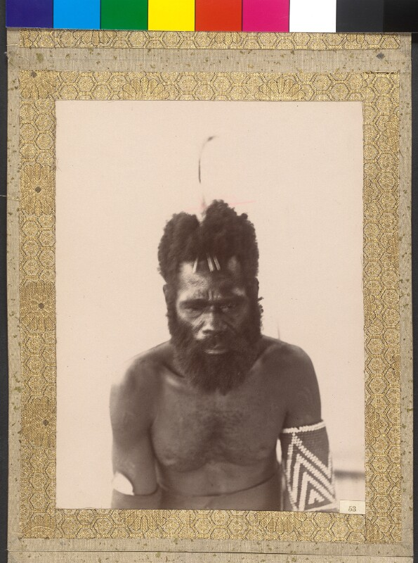 """Insel Epi (Vanuatu): Der König von Tartary Bay an Bord der Yacht """"Tolna"""""""