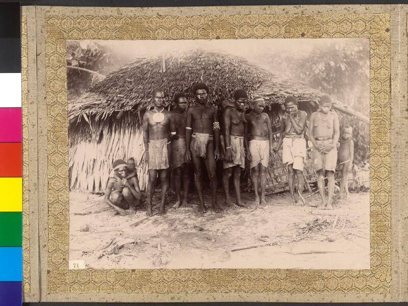 Bewohner der Insel Vanikoro (Santa Cruz-Inseln)