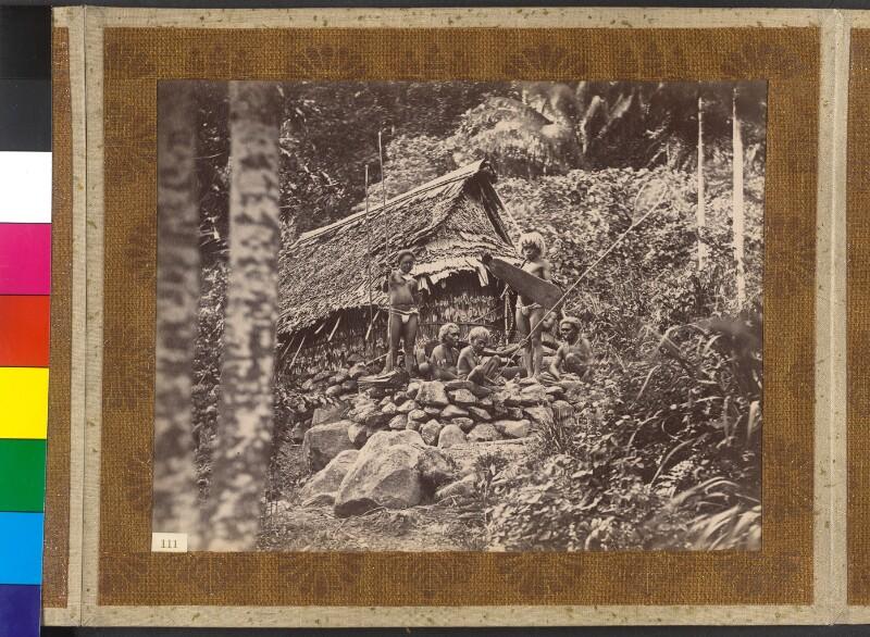 Insel Simbo (Salomonen): Bergbewohner bei der Essenszubereitung