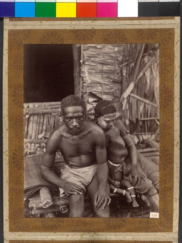 Treasury Inseln (Salomonen): Der Kronprinz [sic] mit Frau und Tochter