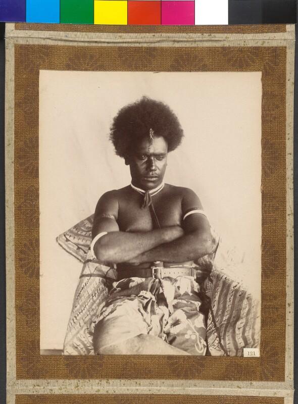 Ferguson, König der Shortland und Bougainville Inseln (Salomonen) und Sohn des Königs Gorai