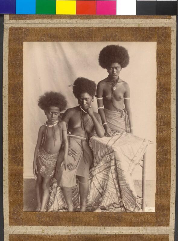 Shortland- und Bougainville-Inseln (Salomonen): Weibliche Nachkommenschaft des Königs Gorai