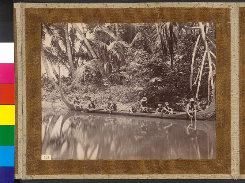 Insel Choiseul (Salomonen): Kriegsboot auf Kopfjagd am Fluss Bambatanie