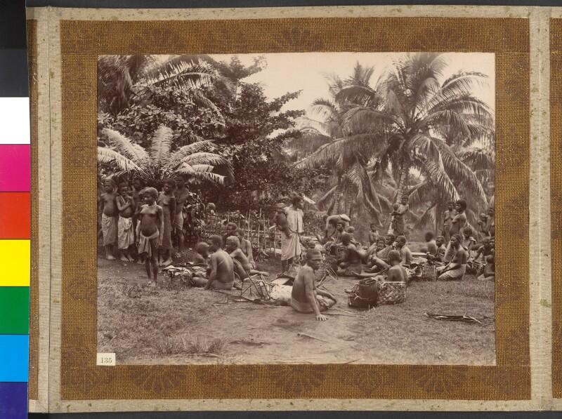 Insel Neupommern (heute: Neubritannien, Bismarck-Archipel): Markt in Malapau