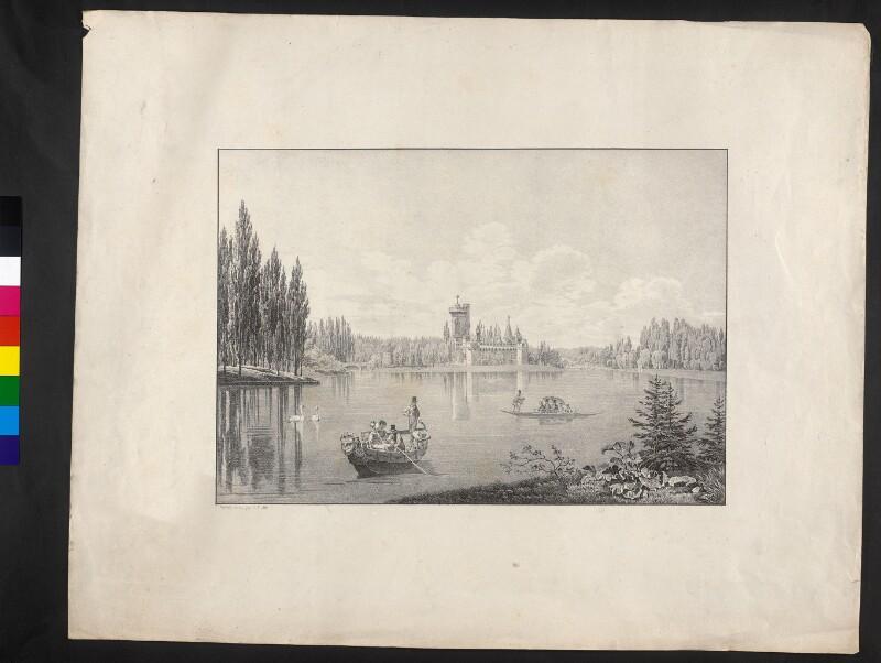 Teich mit Pappelinsel (Franzensburg)