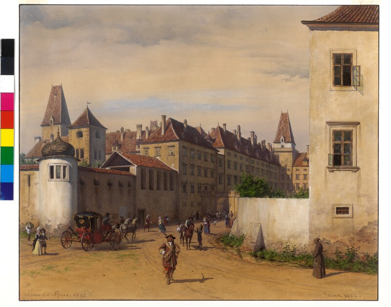Die Hofburg in Wien 1672